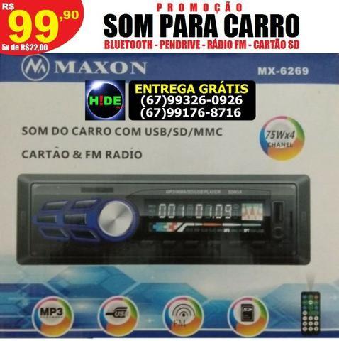 Som 300w Bluetooth pendrive rádio para carro (entrega grátis)
