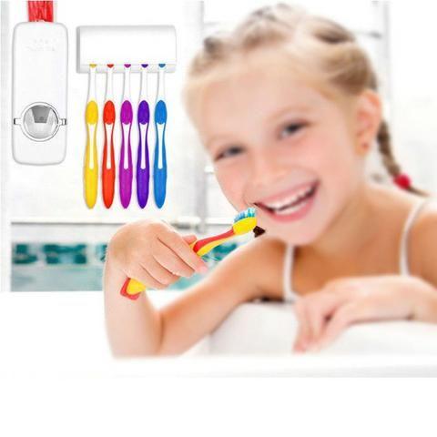 Dispenser de creme dental mais suporte de escova - Foto 2