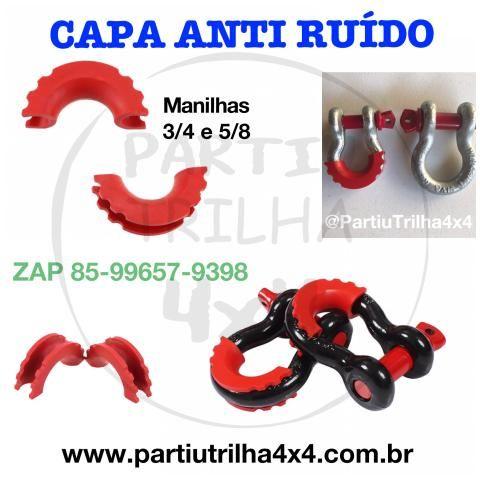 Troller Capa anti ruído manilha Anilha preta ou vermelha - Foto 2