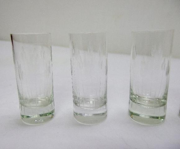 6 copos de shot de cristal anos 60 - Foto 2