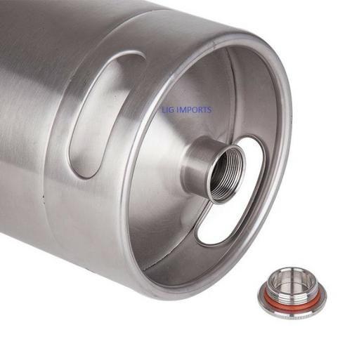 Barril de 5 Litros em Aço Inox Keg - Realengo