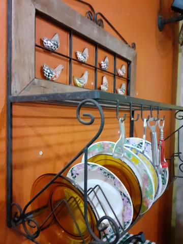 Paneleiro suporte prato rustico - Foto 4