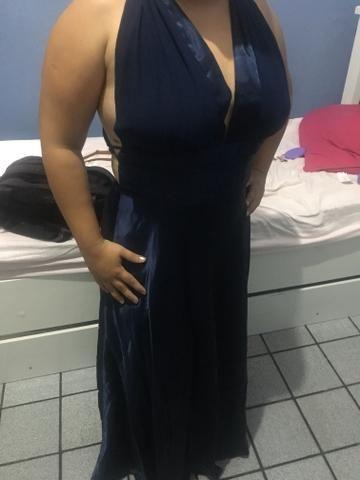 Vestido longo de Cetim - Foto 5