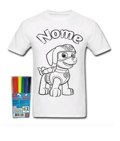 Camiseta Patrulha Canina Para colorir - tambem faço com outros temas e personagens