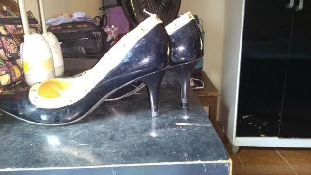 Sapato bico fino salto 6 cm número 37 - Foto 4