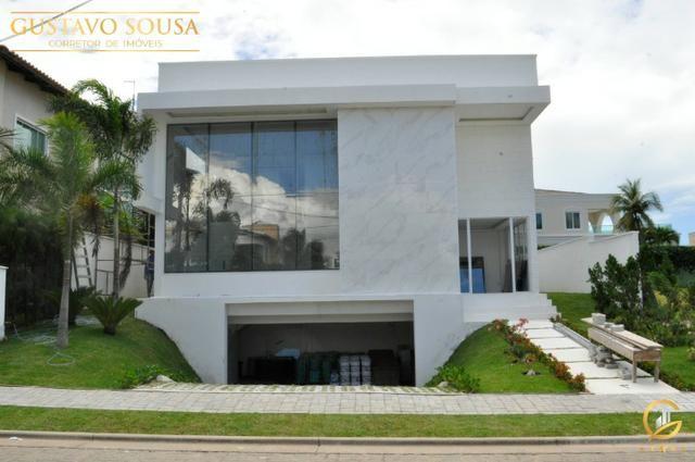 Mansão no Alphaville Fortaleza com 4 Suítes e Arquitetura diferenciada