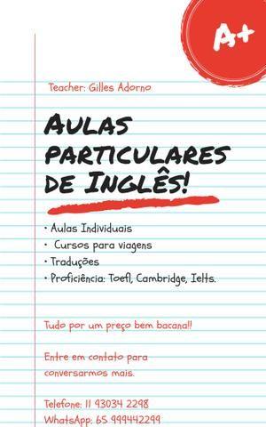 Professor Particular de Inglês!!
