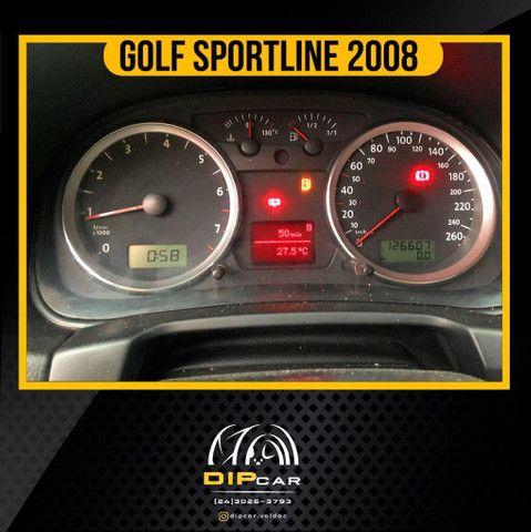 Golf 1.6 sportline completo 2008 couro - Foto 4