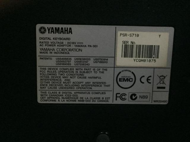 Teclado Profissional Arranjador Yamaha PSR 710 - Foto 6