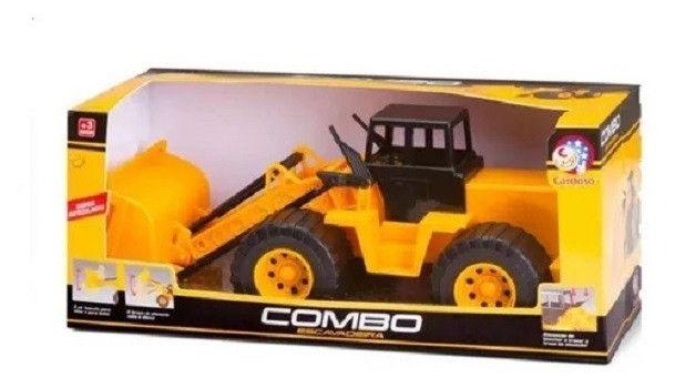 R$39,90 - Trator Combo Escavadeira Articulado Basculante Cardoso Toys - Foto 3