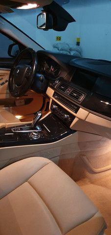 Torro! Ipva Pago!!! BMW 528I 2.0 Turbo - Top de Linha, 2013, interior Caramelo, 245 Cv - Foto 5