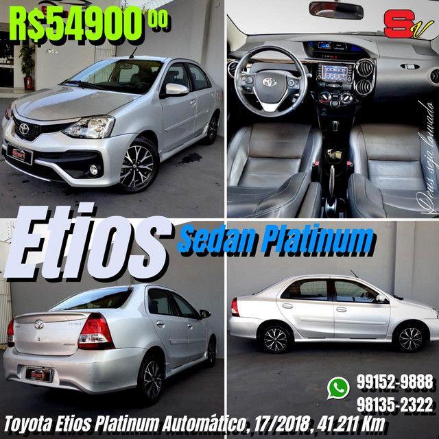 Smart Veículos - Toyota Etios Platinum Automático, 17/2018, 41.211 Km. R$ 54.900,00