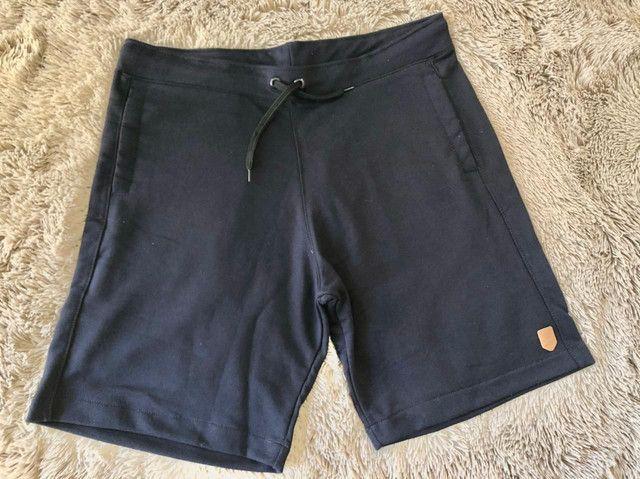 Bermudas masculina jeans e moletom - Foto 2