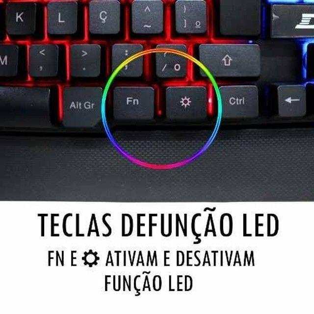 Teclado Gamer Luz Led Rgb Tecla Ghost Neon Usb Hz-100