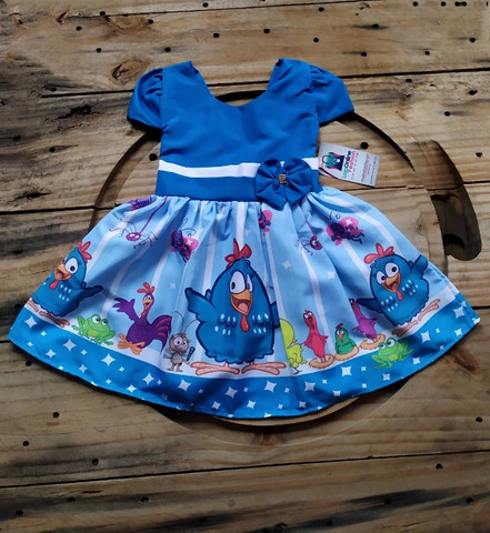 Vestido infantil temático Galinha Pintadinha - Foto 2