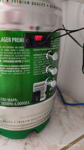 Barril Heineken-SOM 200W RMS com sub . - Foto 2