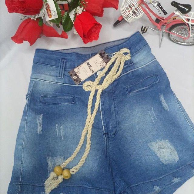 Short Jeans com cordão - Foto 2