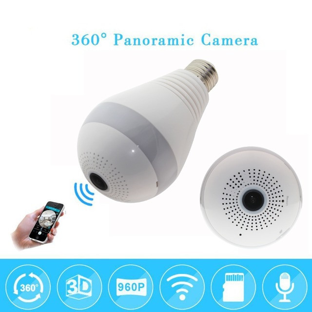 Camera Ip Seguraca Lampada Vr 360 Panoramica Espia Wifi  - Loja Natan Abreu  - Foto 6