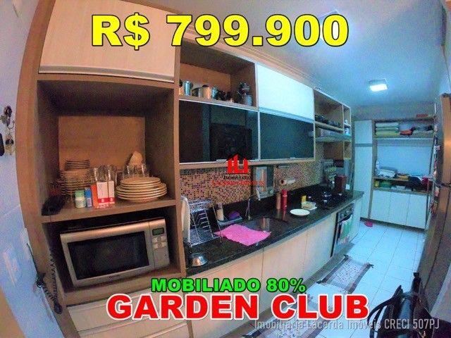 Residencial Garden Club   Com 3 dormitórios   80% Mobiliado.