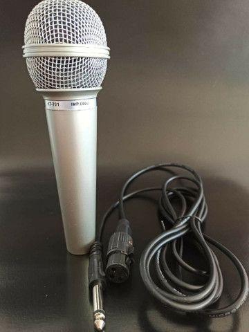 Microfone com fio 2,5m - Foto 2