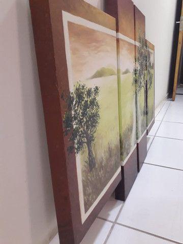 Quadro Decorativo Óleo sobre Tela - Paisagem - Foto 2
