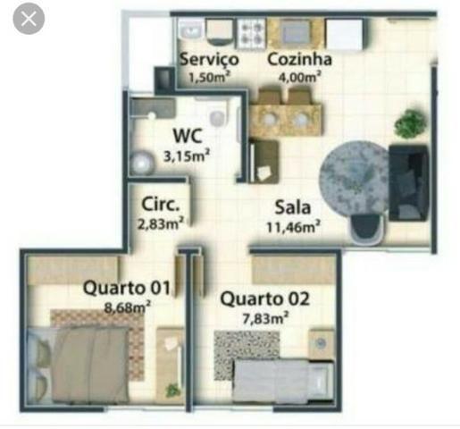Apartamento no Condomínio Village Leste com 2 quartos