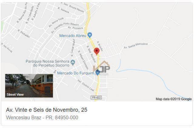 Terreno à venda, 458 m² por r$ 128.673,96 - vila getúlio vargas - wenceslau braz/pr - Foto 7