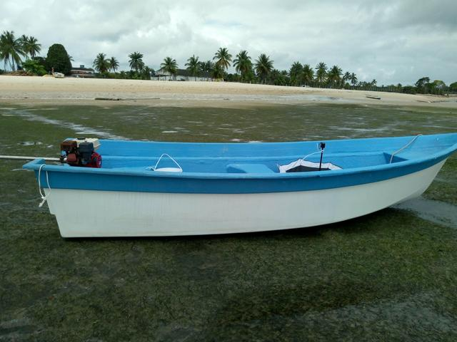 Barco de Fibra 6mt comp por 1.80 boca - Foto 3