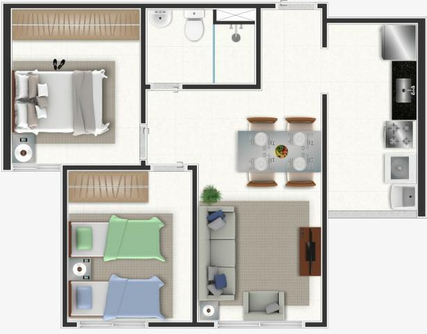 Apartamentos a Partir de R$ 117.000,00 - Columbia Residencial - Foto 13
