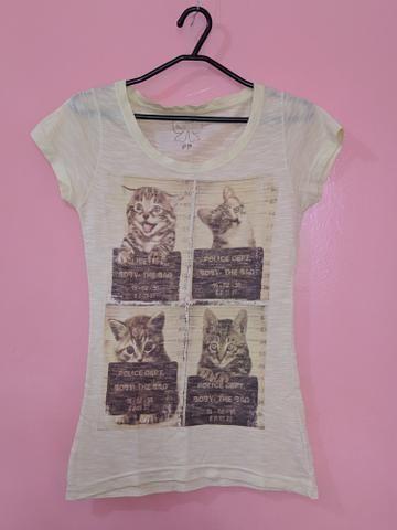 Camisa de gatinhos Bluesteel