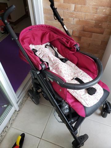 Kit carrinho Peg-Perego switch four + bebê conforto + forro almofadado sob medida - Foto 2