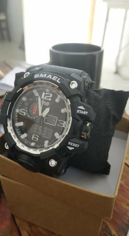 677094c38 Relógio Masculino Militar Esporte Smael 1545 Prova D  Agua Entrega Grátis