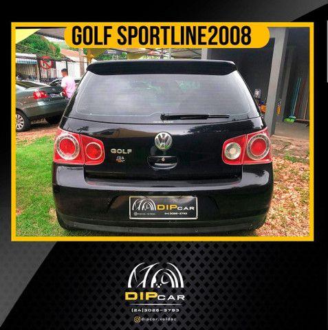 Golf 1.6 sportline completo 2008 couro - Foto 2