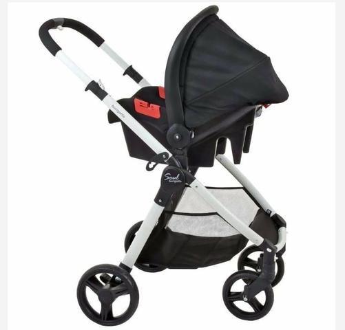 Carrinho de Bebê + Bebê Conforto + Capa de chuva - Foto 3