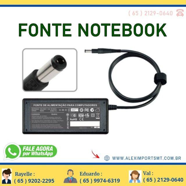 Fonte para Notebook Hp 65W 18,5V 3,5 Amperes Bivolt Notbok