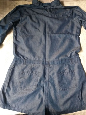 Macaquinho Jeans 46 - Foto 3