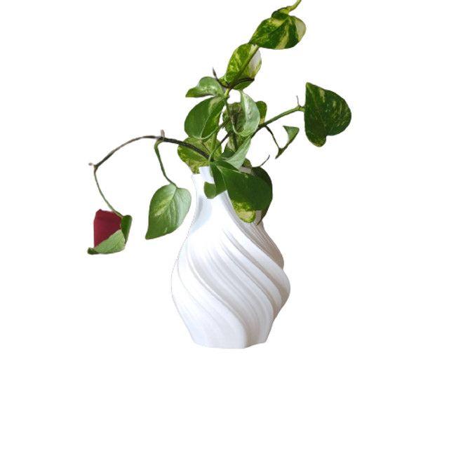 Vaso De Flor Decorativo Impresso Em 3d