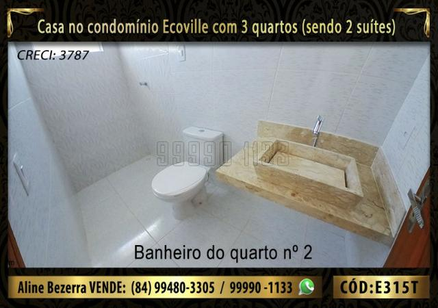 Oportunidade, casa no Ecoville com 3 quartos sendo 2 suítes, aceita financiamento - Foto 11