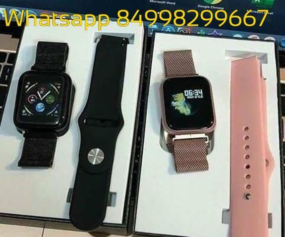 Relógio SmartWatch Inteligente P70 PRO a prova d água compatível com Android e iOS - Foto 4
