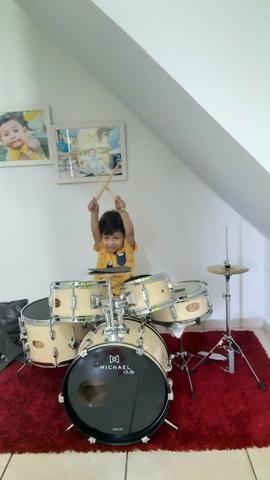 Bateria Michael Acústica Infantil - Foto 6