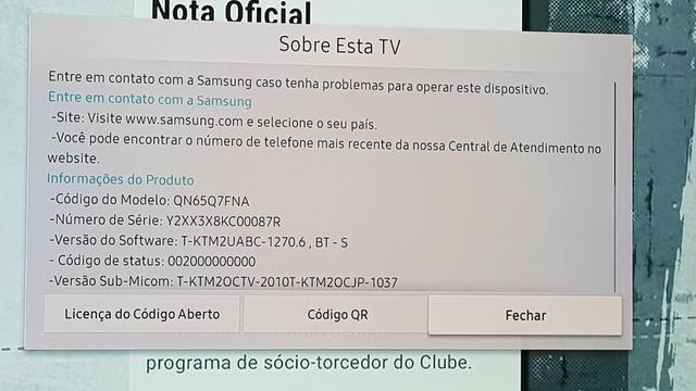 TV Samsung Qled Q7FN 65 polegadas Q led com caixa e manuais - Foto 2