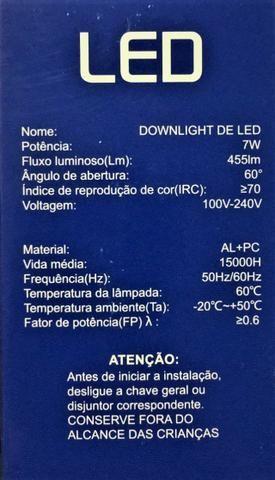 Kit 10 Spot Redondo de embutir Led 7W Bidirecional Bivolt - Foto 6