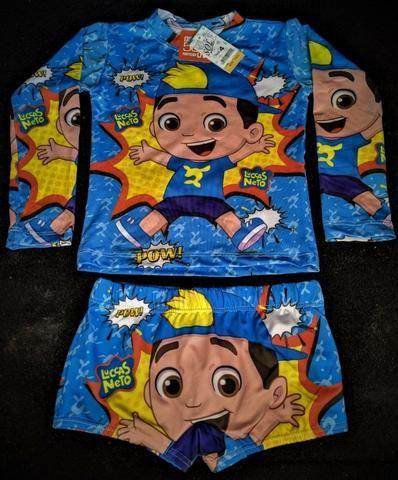 Conjunto menino infantil Luccas Neto com proteção UV50+ - Foto 3