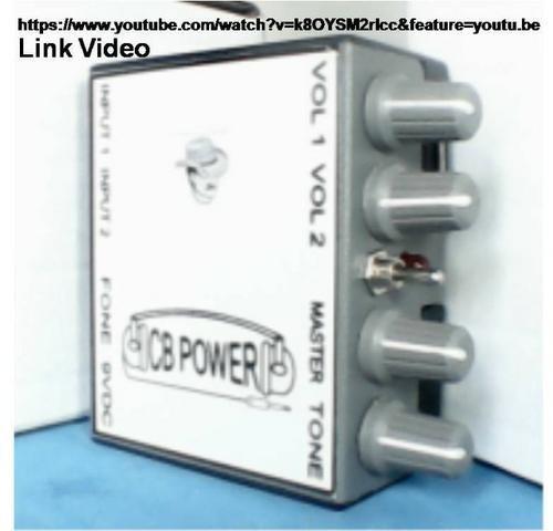 Retorno de fone CB Power com fonte estabilizada