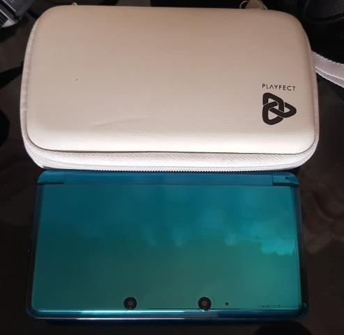 3DS Ocean Blue Destravado+case - Foto 2
