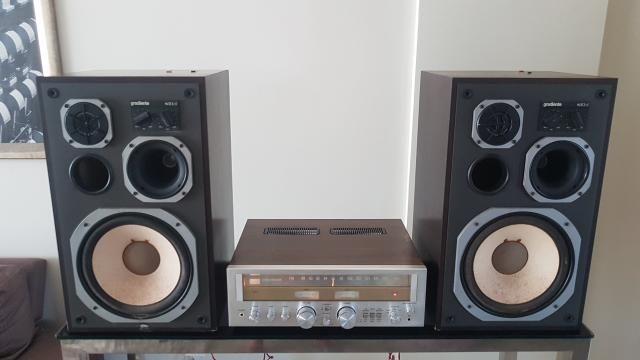 Receiver Sansui e par de caixas de som Gradiente - Foto 4