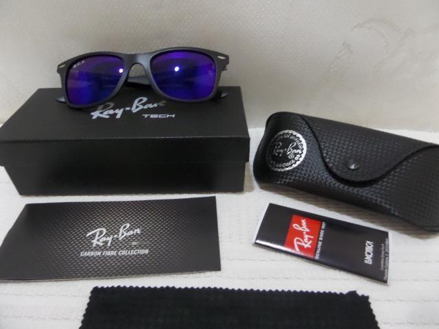 90275176b3c60 Óculos Ray Ban Rb4195 Wayfarer Liteforce C  Lente Azul Polarizado -  Importado