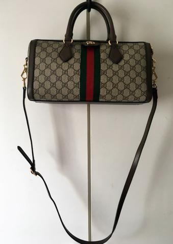 fc444cf49 Bolsa Gucci Ophidia GG Marrom e Bege - Bolsas, malas e mochilas ...
