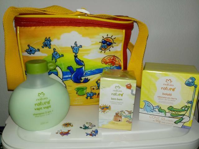 bd7a8906ac1352 Kit infantil Natura com Bolsa Térmica
