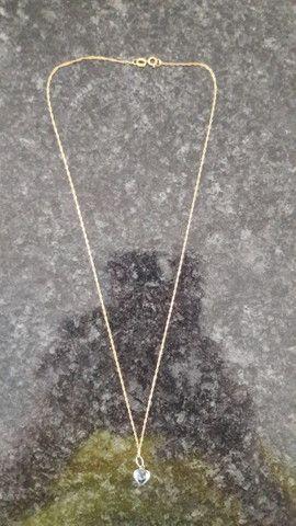 Corrente com pingente de ouro 18k - Foto 3